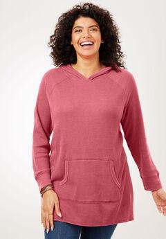 Hooded Thermal Sweatshirt, ROSE BLOOM
