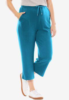 Sport Knit Capri Pant, DEEP SEA BLUE, hi-res
