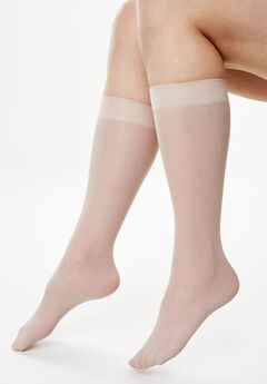 3-Pack Knee-High Compression Socks by Comfort Choice®, NUDE, hi-res