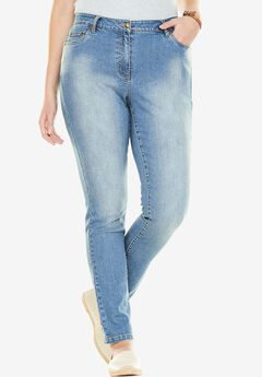 Stretch Skinny Jean, LIGHT STONEWASH SANDED, hi-res