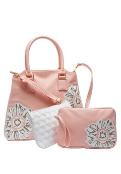 3-piece floral bag set , ROSE BLUSH PRINT, hi-res