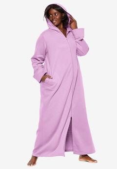 Hooded Fleece Robe by Dreams & Co.®, LIGHT ORCHID