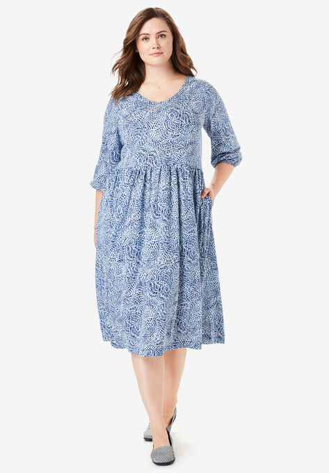 Empire Waist Dress| Plus Size Casual Dresses | Woman Within