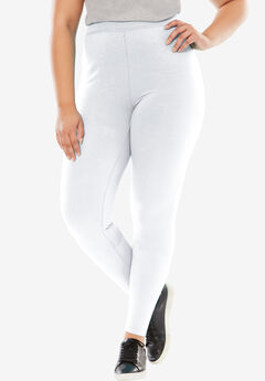 Stretch Cotton Legging, WHITE