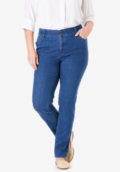 Straight Leg Tummy Tamer Jean, MEDIUM STONEWASH
