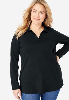 Perfect Open Collar Polo Shirt,