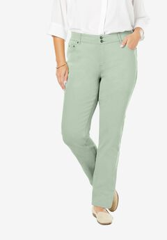 Straight Leg Tummy Tamer Jean, WILLOW GREEN