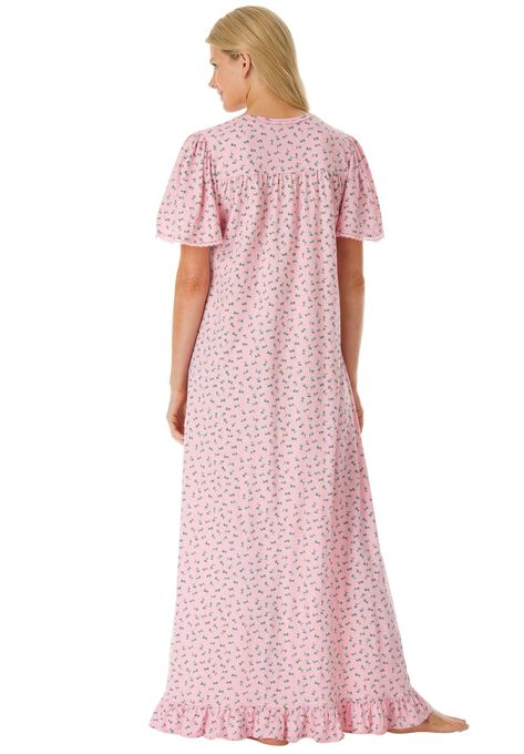 Long Cotton Gown by Dreams & Co® | Plus Size Sleep Gowns | Woman Within