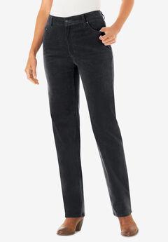 Corduroy Straight Leg Stretch Pant,
