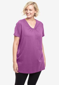 790300c384987 Perfect Shirred V-Neck Tunic