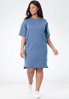 Short-Sleeve Fleece Dress,
