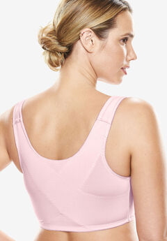 Lace Wireless Posture Bra , SHELL PINK