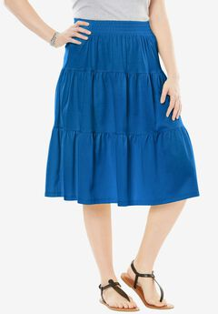 Tiered skirt, BRIGHT COBALT, hi-res
