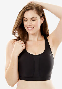 Vented Sport Bra by Champion®, BLACK, hi-res