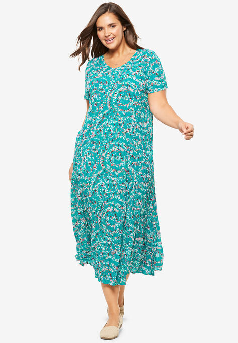 Crinkle Dress| Plus Size Petite | Woman Within