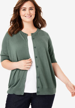 cdfa277499f Perfect Elbow-Length Sleeve Cardigan