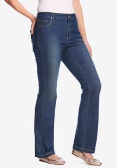 Bootcut Stretch Jean, MIDNIGHT SANDED