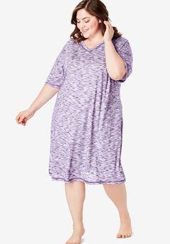 Short Marled Sleepshirt ,