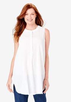 Sleeveless Gauze Tunic,