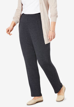 7-Day Knit Slim-Leg Pant, HEATHER CHARCOAL, hi-res