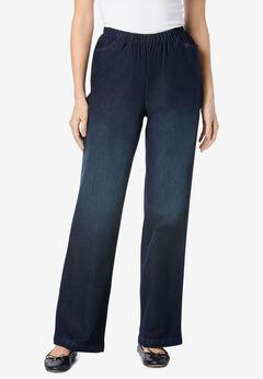 Wide Leg Fineline Jean, INDIGO SANDED