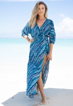 Faux-Wrap Swim Cover Up,