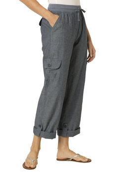 Woman Within® Pants with Convertible Length, CHAMBRAY, hi-res