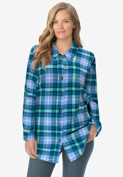 Classic Flannel Shirt, FRENCH BLUE COZY PLAID