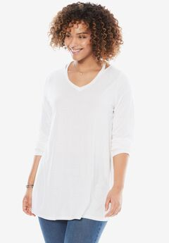 V-neck Cut-out Tunic,