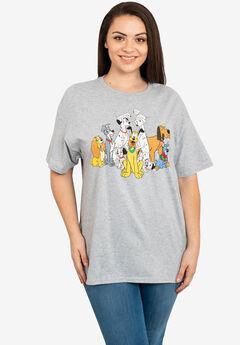 Disney Dogs Gray Short Sleeve T-Shirt 101 Dalmations Pluto,