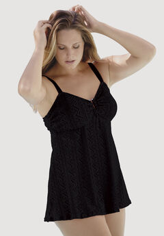 Lace Swimdress, BLACK