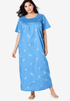 Only Necessities® Embroidered Smocked Lounger,