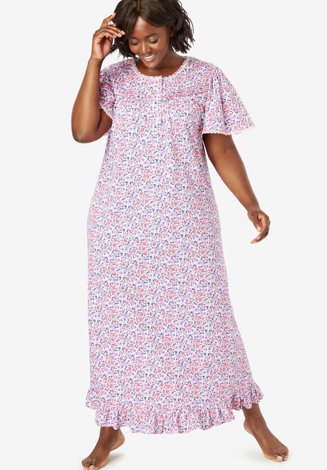 bde59494bdf Long Floral Print Cotton Gown by Dreams   Co.®