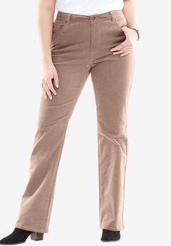 Bootcut Stretch Corduroy Jean, ALMOND TAUPE, hi-res