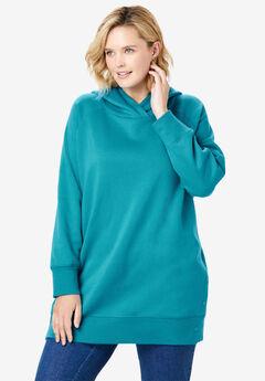 Snap Detail Hooded Sweatshirt,