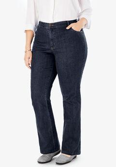 Bootcut Stretch Jean, INDIGO