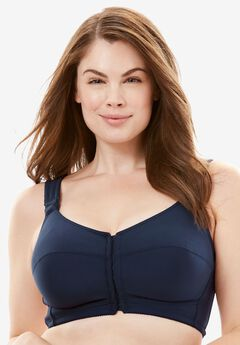 Stay-Cool Wireless Posture Bra by Comfort Choice®, NAVY