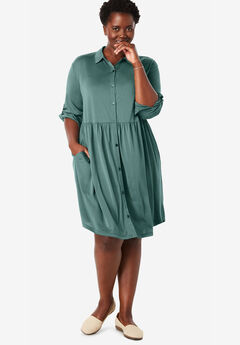 Drapey Shirtdress,
