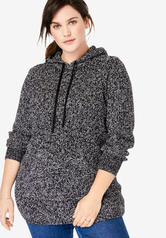 Hooded Pullover Shaker Sweater,