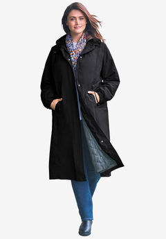 Long Hooded Taslon® Jacket,