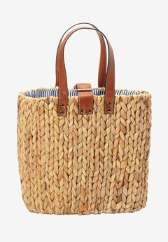 Two-Way Straw Bag, NATURAL, hi-res