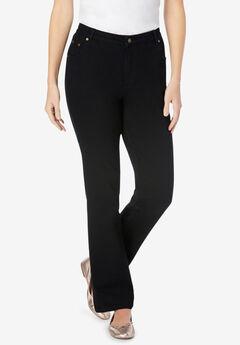 Bootcut Stretch Jean, BLACK DENIM