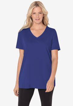 Perfect V-Neck Tee, ULTRA BLUE
