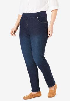 Smooth Waist Skinny Jean, INDIGO SANDED