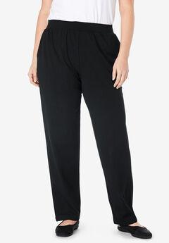 EveryWear Essential Straight Leg Pant, BLACK