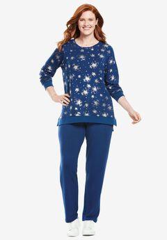 Floral Print Sweatsuit,