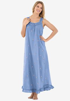 Long Embroidered Gown ,