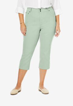Tummy Tamer Capri Jean, WILLOW GREEN