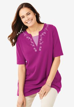 Tunic With Embroidered Inset,