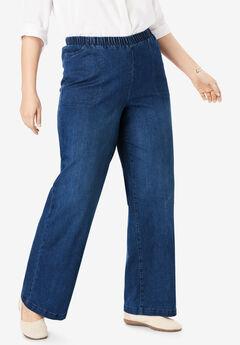 Wide Leg Fineline Jean, STONEWASH SANDED